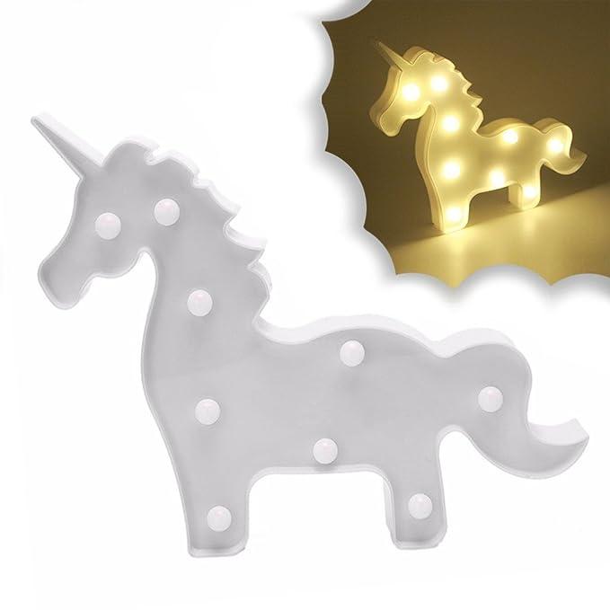 Lámpara de mesa o escritorio con unicornio para habitaciones ...