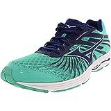 Mizuno Women's Wave Sayonara 4-W Running Shoe, Blue Depths-Electric Green, 10 B US