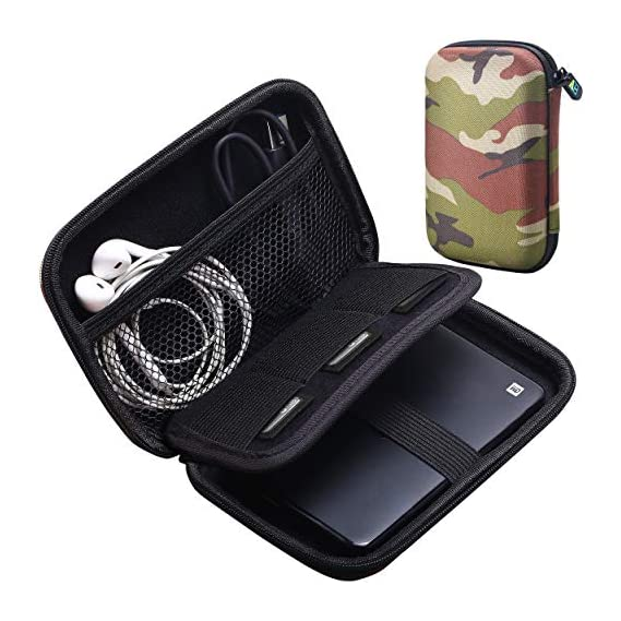 Styleys Double Layer Gadget Organizer Case, Portable Zippered Pouch for All Small Gadgets, HDD, Power Bank, USB Cables