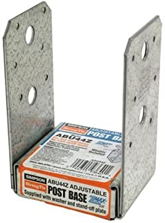 """Simpson Strong-Tie Post Base Zmax 3-9//16/""""W X 3-1//8/"""" L 16 Ga Zmax Pack of 20"""