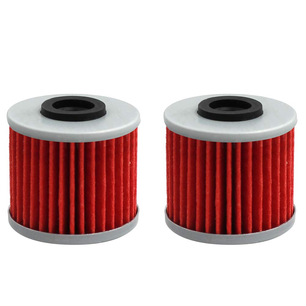 AHL 2 Pcs Oil Filter for HONDA NC700X DCT 2012-2018/CTX700N DCT 2014-2018/SXS1000M3 Pioneer 1000 2016-2019 15412-MGS-D21