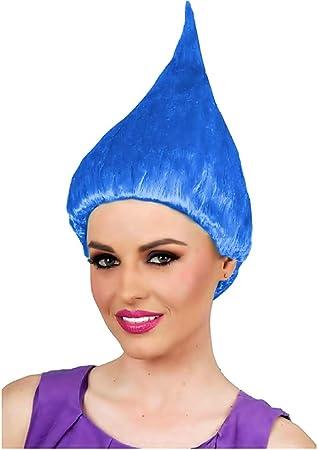 KIRALOVE Azul - Peluca Trolls - Accesorios - Adultos - Disfraces ...