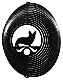 WELSH CORGI CARDIGAN Circle Swirly Metal Wind Spinner