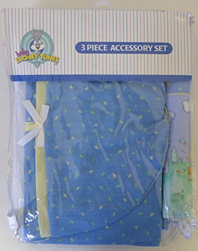 Baby Looney Tunes 3 Piece Playday Accessory Set - Crib Skirt, Flannel Receiving Blanket, Diaper Stacker by Warner Bros.
