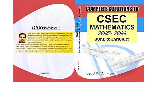 Amazon complete csec mathematics solutions jan june 2011 amazon complete csec mathematics solutions jan june 2011 2017 ebook fayad ali kindle store fandeluxe Gallery
