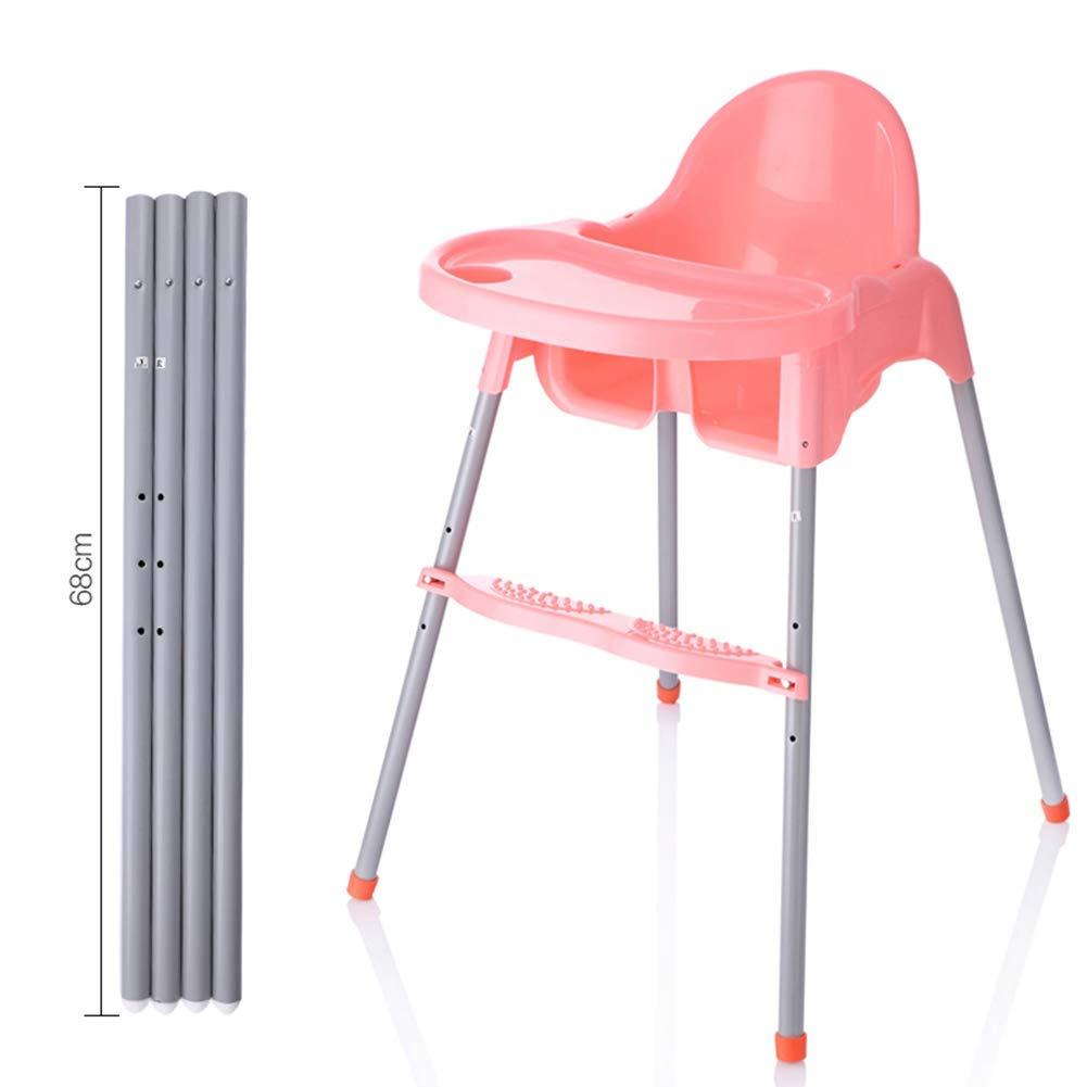 GBXX Moda Creativa Muebles pequeños Taburete Antideslizante Sillas Altas Mesas de Comedor para bebés Taburete Grande y Ajustable de múltiples Colores y multifunción Hogar Creativo,Rosado,Patas Altas