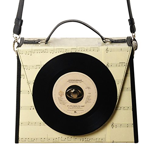 Vinyl record crossbody bag - Free shipping - nostalgic style eco friendly vegan handbag reclaimed retro vintage handmade gift choir bags gifts for singer musician violin piano music lover teacher
