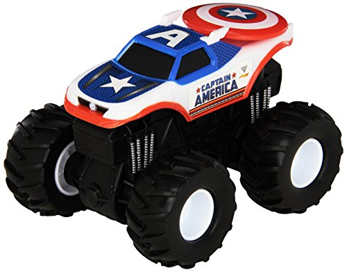 Hot Wheels Monster Jam Rev Tredz Captain America Die-Cast Vehicle