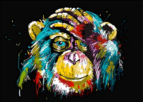 (BYAMD 5d Diamond Painting Kits for Adults Kids Monkey Full Drill Diamond dotz for Home Wall Decor 16x12inch(Canvas Size))