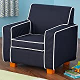 KidKraft Laguna Chair with Navy Piping and Slip Cover