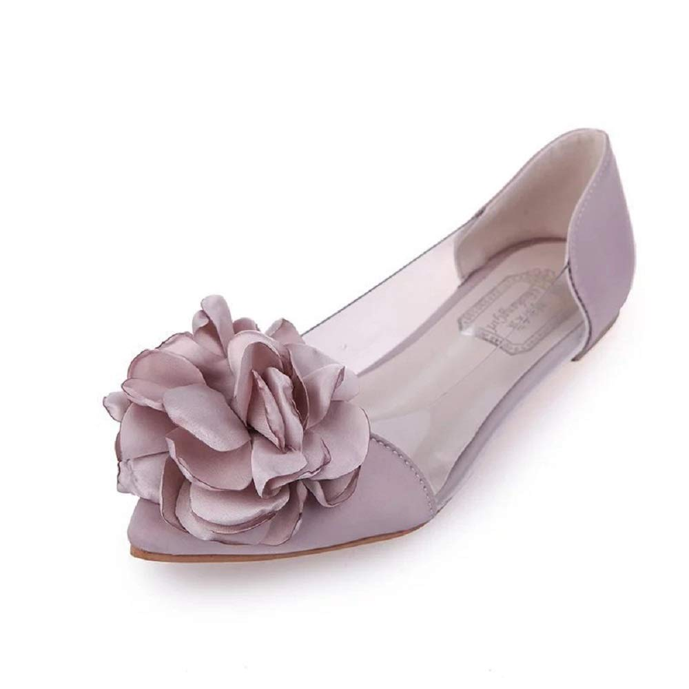 Qiusa Ballerines Fleuries Femmes Ballerines Chaussures : Bout Pointu : Transparent (coloré : Rose, Taille : EU 39) Rose 5b550ff - automaticcouplings.space