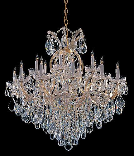 - Bohemian Crystal 19 Light Candle Chandelier Finish: Gold, Crystal Type: Swarovski Spectra