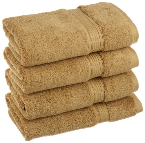 Superior 900 GSM Luxury Bathroom Hand Towels, Made of 100% Premium Long-Staple Combed Cotton, Set of 4 Hotel & Spa Quality Hand Towels - Toast, 20