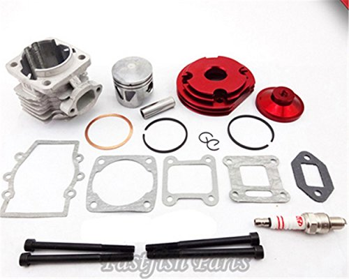 44mm Cylinder Racing Big Bore Kit Set 2 Grooves Red for sale  Delivered anywhere in Canada