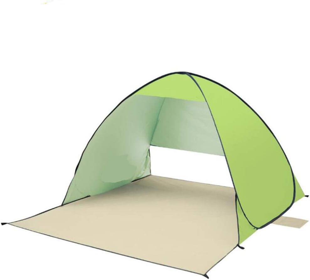 Pop Up Tent, Tent Winddicht Waterdicht Geventileerd Met Draagtas Duurzame Beach Deur Zonwering Automatische Shelters Luifel Voor Geschikte Schaduw Vrije tijd, Roze Groen