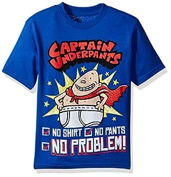 Captain Underpants Big Boys' Short Sleeve T-Shirt, Royal, L-14/16