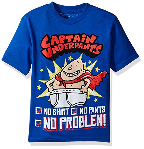 Captain Underpants Little Boys' Short Sleeve T-Shirt, Royal, L-7