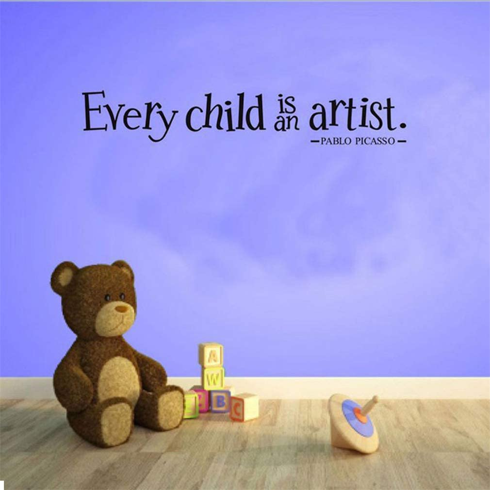 Every Child is an Artist Wall/ Decals,Vinyl/ Removable/ PVC/ Stickers/ Decor for/ Home/ Bedroom/ Living/ Room Decoration 3.9/×23.6 in