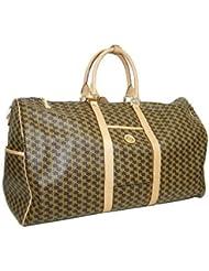 Aristo Brown Duffle Traveler by Rioni Designer Handbags & Luggage