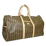 Aristo Brown Duffle Traveler by Rioni Designer Handbags & Luggage