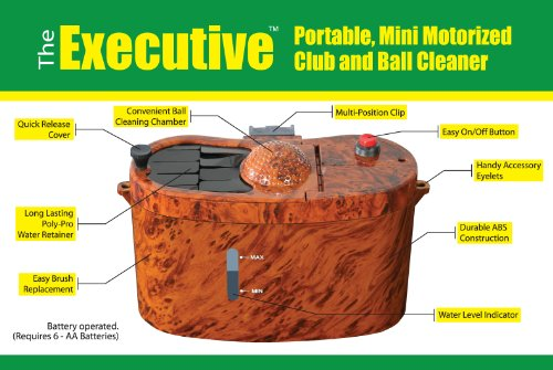 Club Clean The Executive Motorized Club and Ball Cleaner (Brown/Black) - Executive Club