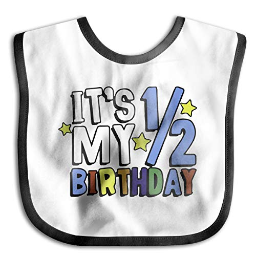 XHX Baby It's My Half Birthday Saliva Towel Bibs Burp - Birthday Bib 1st Personalized