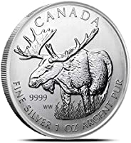 "2012 CA Canadian Wildlife Series""Moose"" Silver Coin 1 Ounce Silver Dollar Un"