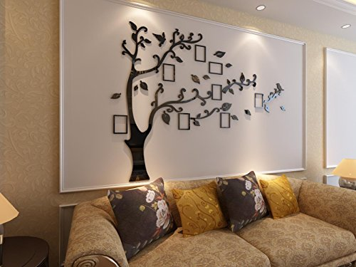 3d Picture Frames Tree Wall Murals for Living Room Bedroom Sofa Backdrop Tv Wall Background, Originality Stickers, Wall Decor Decal Sticker (50(H) x 70(W) inches) by DecorSmart (Image #4)