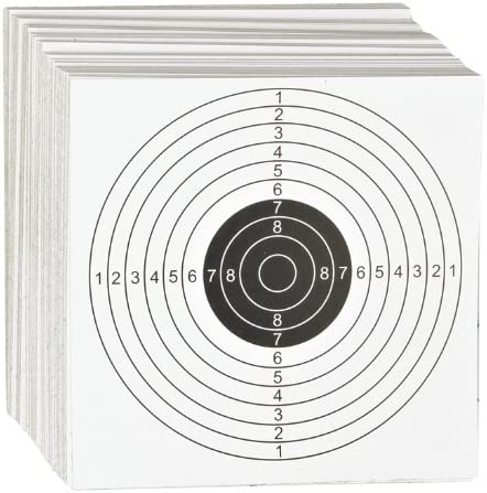 ASG 14cm Card Airgun Targets 100 Pack Single Bull Air Rifle Pistol Gun Zero  HFT: Amazon.co.uk: Sports & Outdoors