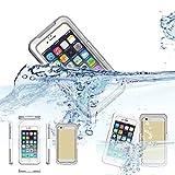 iPhone 6 Waterproof Case,KEEDA® 6 Meter Waterproof Dustproof Snowproof TPU Case Cover for iPhone 6 4.7 inch (White)