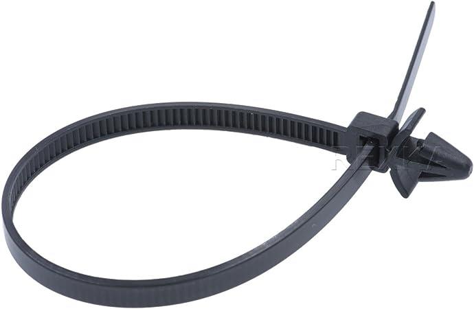 """50pcs Sydien Fir Tree Nylon Push Mount Cable Zip Tie 8.3/""""x0.18/"""" Black Clamps New"""