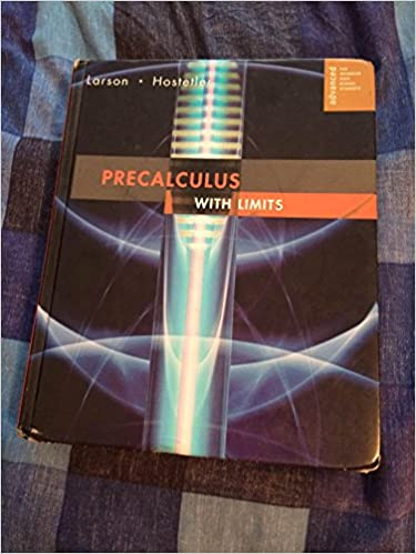 Precalculus With Limits Advanced For Advanced High School