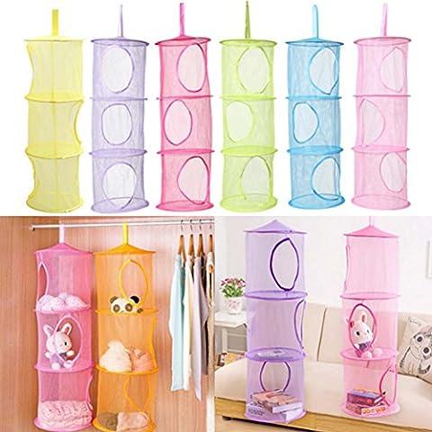 3 Shelf/1 Pcs Hanging Storage Net Kids Toy Organizer Bag Bedroom Wall Door Closet Free Shipping #Green - Simple Green Hand Cleaner