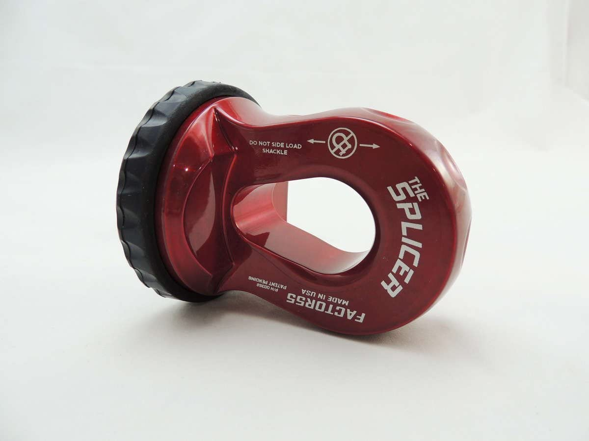 FACTOR 55 THE SPLICER Sintetic Rope Shackle Mount Red