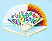 Colorations Fans Fantastic Blank Paper Fans (Pack of 12)