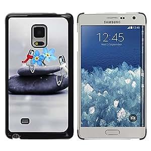 Exotic-Star ( Design Flower Stone ) Fundas Cover Cubre Hard Case Cover para Samsung Galaxy Mega 5.8 / i9150 / i9152