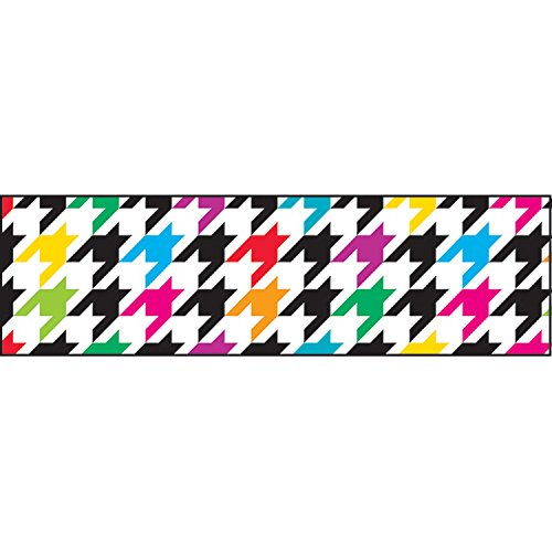 TREND enterprises, Inc. T-85166BN Houndstooth Multicolor Bolder Borders, 35.75' Per Pack, 6 Packs