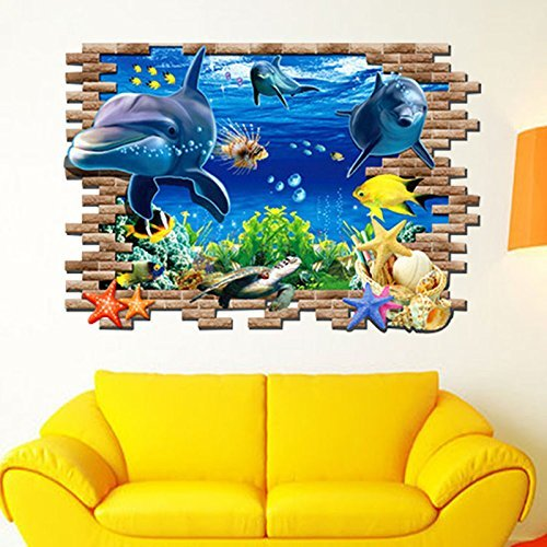 Waffle Costume Diy (High-Season 3d small wall stickers underwater world decorative home diy cartoon living room animals print art murals poster t oile)