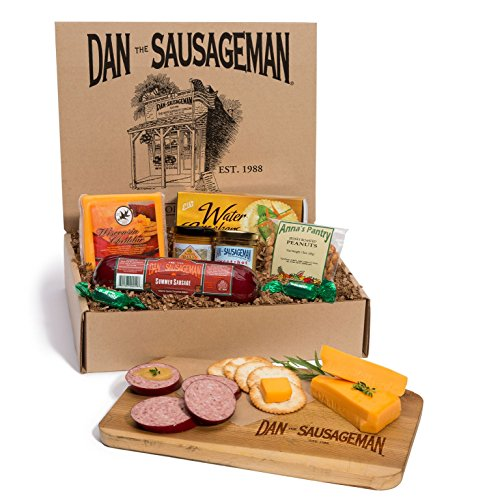 Dan the Sausageman's Yukon Gourmet Gift Basket -Featuring Dan's Original Sausage,100% Wisconsin Cheese, and Dan's Sweet Hot Mustard (Meat Gift Basket)
