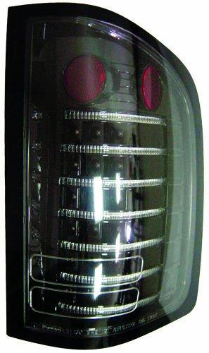 IPCW LEDT-3040CB Chevrolet Silverado Black Fiber Optic LED Tail Light - Pair