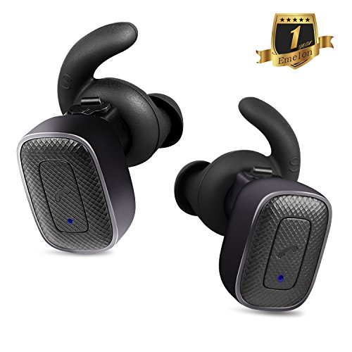 Emelon True Wireless Earbuds Noise Cancelling Bluetooth Headphones Sweatproof Headsets