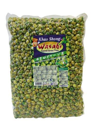Khao Shong Grüne Erbsen mit Wasabi, 1er Pack (1 x 1kg Packung)