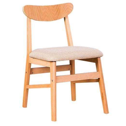 YLCJ Silla de sillas, de Madera Maciza Casa Moderna Silla de ...