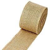 "LaRibbons 3"" Wide Burlap Fabric Craft Ribbon On"