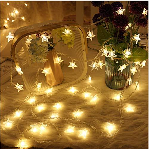fizzytech 50 LED 8 Metrer Star String Lights for Indoor Outdoor Diwali Light for Decoration (Warm White, 8 Meter 50 LED)