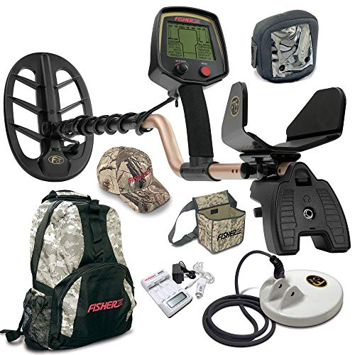 (Fisher F75 LTD BLACK Metal Detector Bundle with Boost and Cache Process + NEW Leading Edge Technology Includes 2 Coils, Coil Covers, Backpack, Recovery Pouch, Cap and Battery Charger System)