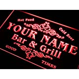 u-tm Name Personalised Custom Family Bar & Grill Beer Home Gift Neon Sign