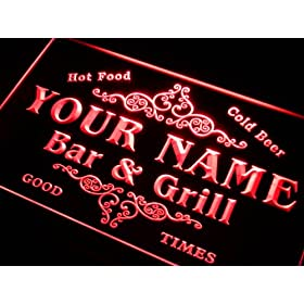 ADVPRO u-tm-r Name Personalized Custom Family Bar & Grill Beer Home Gift Neon Sign