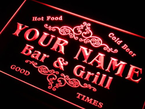 u-tm Name Personalized Custom Family Bar & Grill Beer Home Gift Neon Sign (Light Custom Signs Neon)