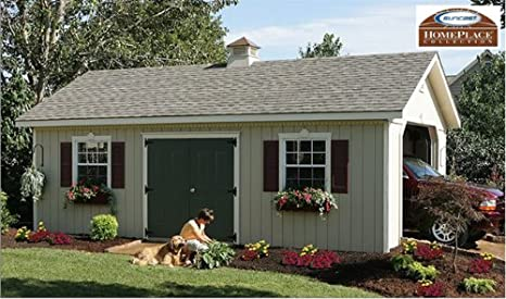 Amazon com: 14 x 24 Keystone Wood Storage Shed Garage